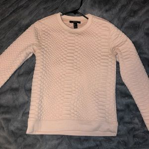 Light/baby pink sweater size small.